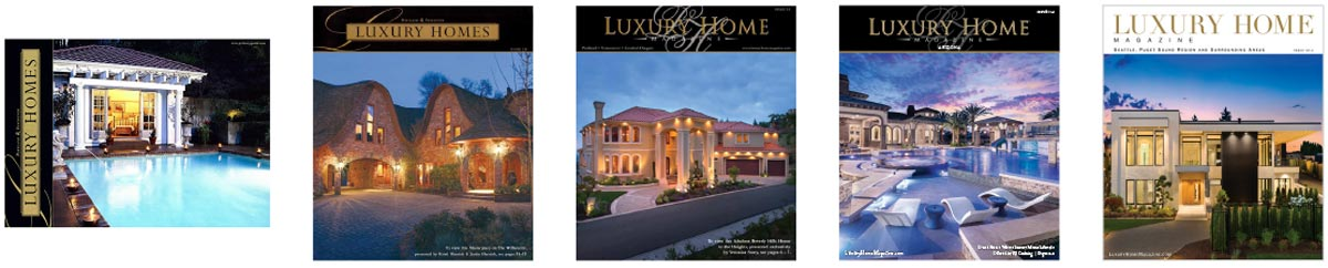 5 covers of luxury home magazine